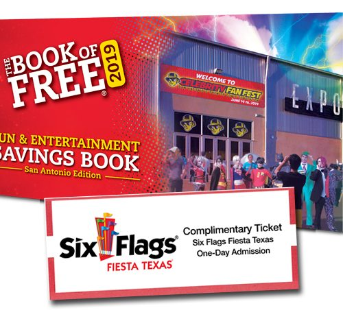 2019 book of free summer edition with one six flags fiesta texas ticket