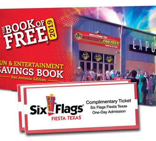 2019 book of free summer edition with two six flags fiesta texas tickets