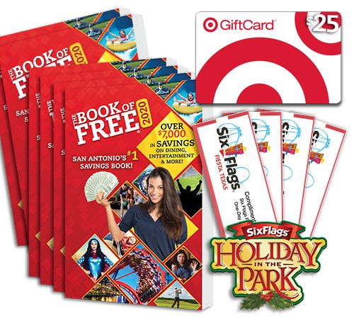 2020 Book of Free with 4 Six Flags Fiesta Texas tickets plus $25 gift card to Target