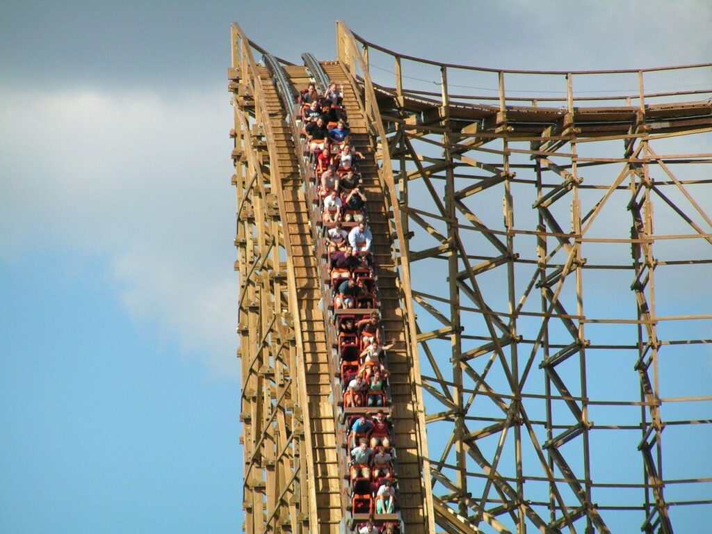 Rattler rollercoaster at Six Flags Fiesta Texas