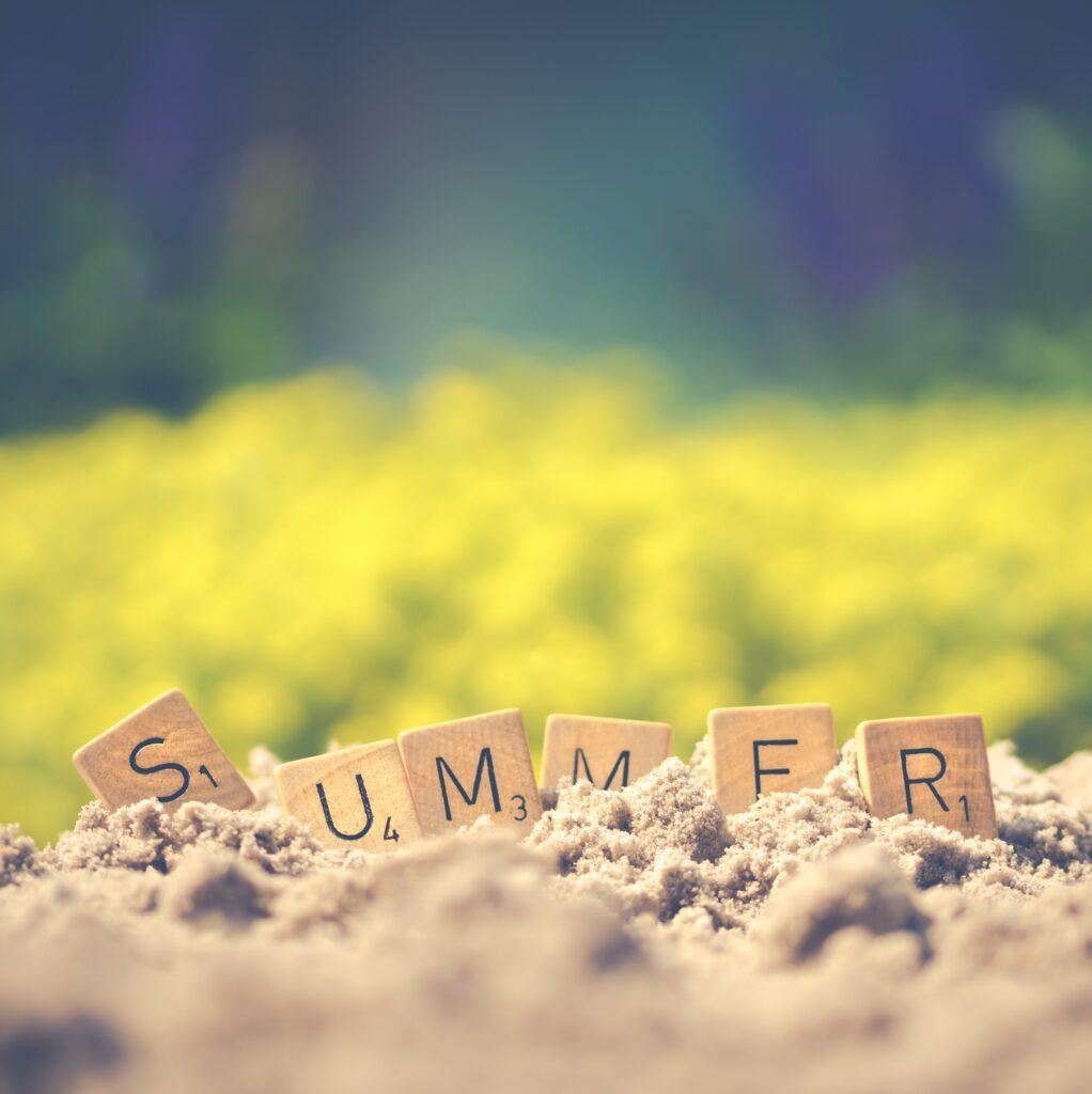 scrabble summer letters